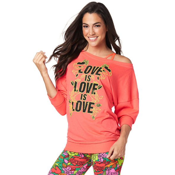 Zumba Love Instructor Pullover - Pink Happy Z1T01606