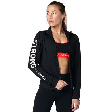 STRONG by Zumba Track Jacket - Bold Black Z1T01608