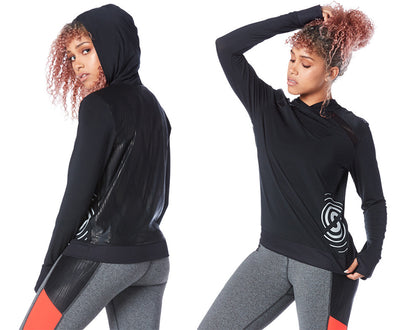 Strong by Zumba Torch & Tone Long Sleeve Pullover - Bold Black Z1T01625