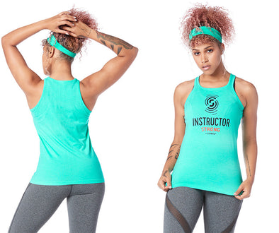 Strong by Zumba Always Reppin' Instructor Seamless Tank - Ocean Z1T01639