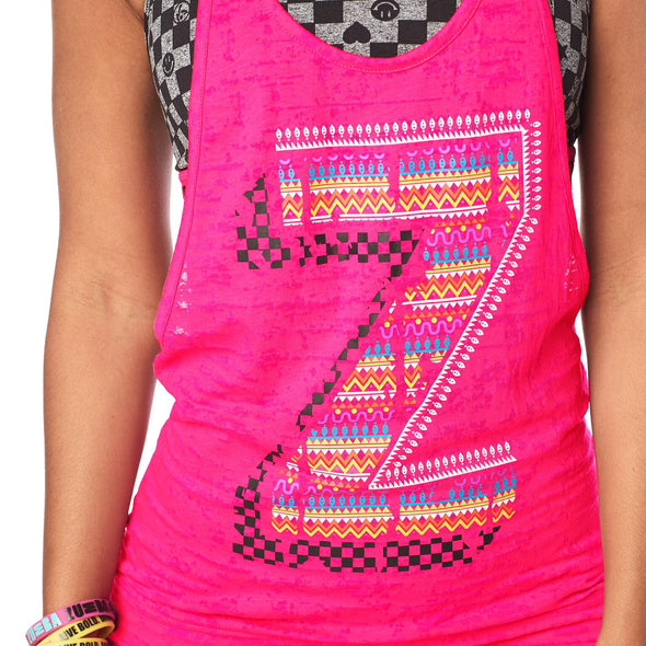 Zumba Dance Bold Bubble Tank - Shocking Pink Z1T01668