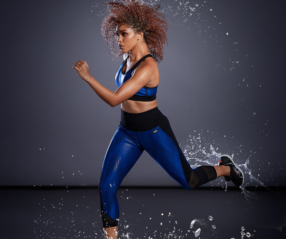 Strong by Zumba Always Reppin' Scoop Bra - Surfs Up Blue Z1T01691