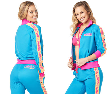 Zumba Feel Good Dance Good Instructor Track Jacket - Sea of Blue Z1T01739