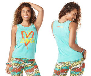 Zumba Love Over Likes Tank Top - Teal Me Everything Z1T01749