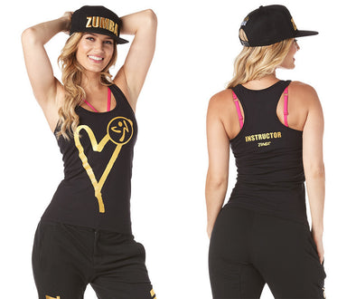 Zumba Be About Love Instructor Racerback - Bold Black Z1T01751