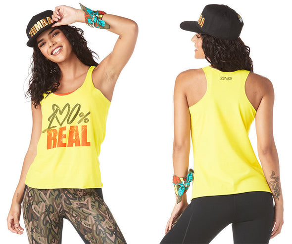 Zumba 100 Tank Top - Mell-Oh Yellow Z1T01752