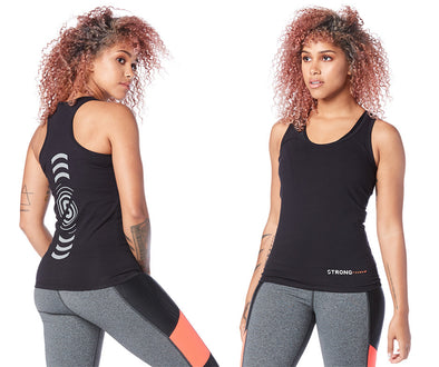 Strong by Zumba Always Reppin' Racerback Top - Bold Black Z1T01770