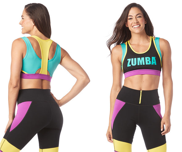 Zumba My Zumba Scoop Bra - Bold Black Z1T01779