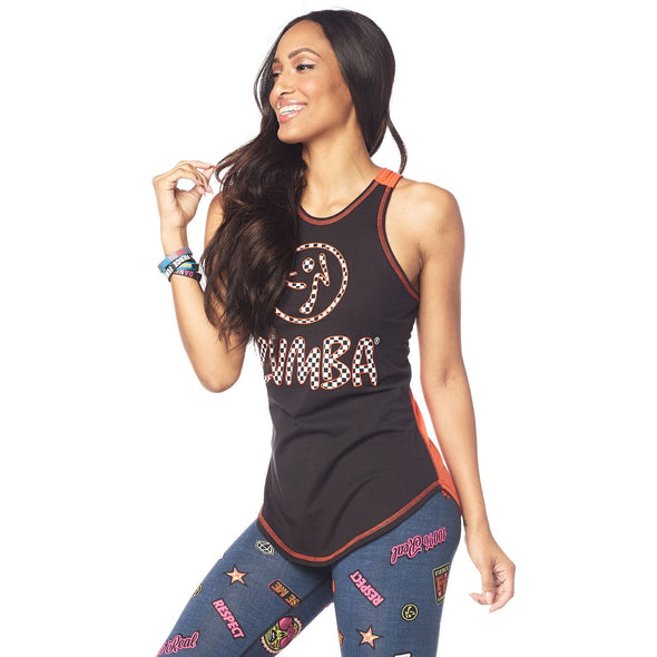 Zumba Live Bold Dance Bold High Neck Tank - Bold Black Z1T01785