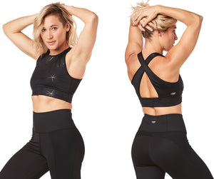 Strong by Zumba Rep After Rep Bra - Bold Black Z1T01787