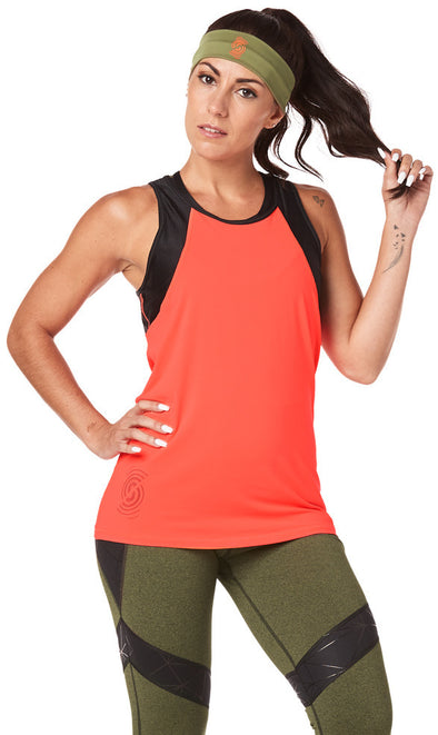 Strong by Zumba Don't Mesh With Me Tank - Coral Craze Z1T01791