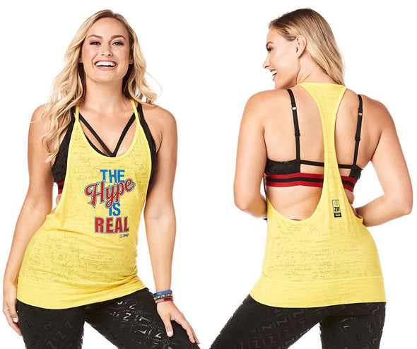 The Zumba Hype Is Real Tank - Sunrays Z1T01804
