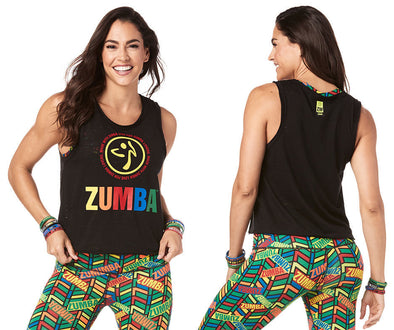 Zumba Made With Love Loose Tank - Bold Black Z1T01805