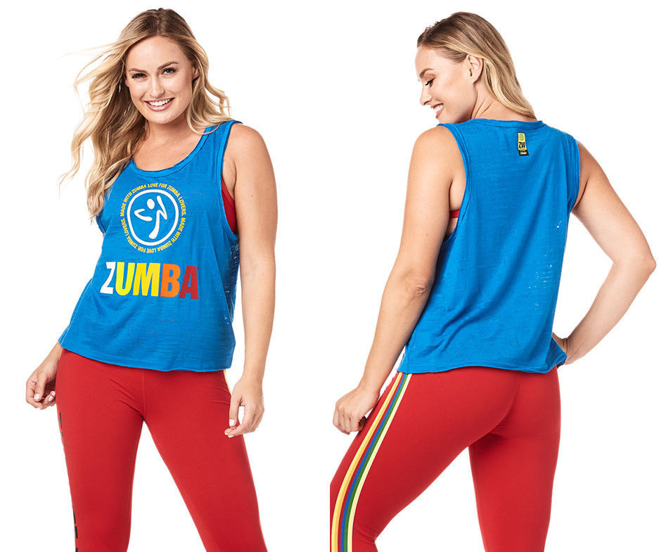 Zumba Made With Love Loose Tank - True Blue Z1T01805