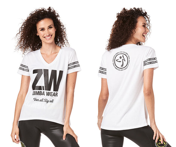 Zumba For All By All Top - Wear It Out White Z1T01809