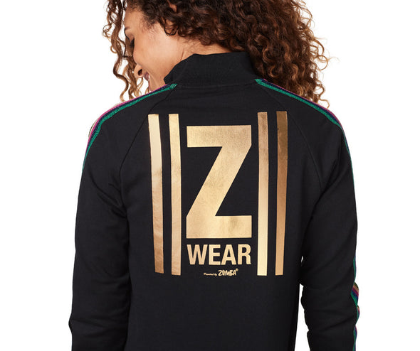 Zumba Keep Dancing Zip-Up Jacket - Bold Black Z1T01859