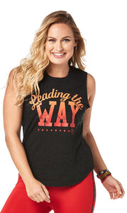 Zumba Leading The Way Muscle Tank - Bold Black Z1T01894