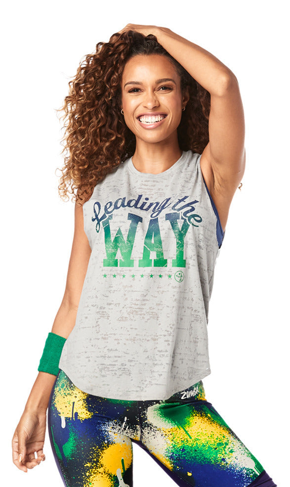 Zumba Instructor Leading The Way Muscle Tank - Pebble Z1T01895
