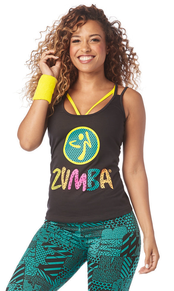 Zumba I Want My Zumba Tank Top - Bold Black Z1T01912