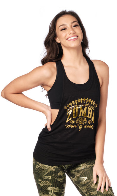 Zumba Mix It Up Bubble Tank - Bold Black Z1T01917