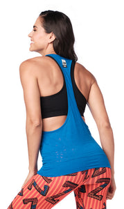 Zumba Mix It Up Bubble Tank - True Blue Z1T01917