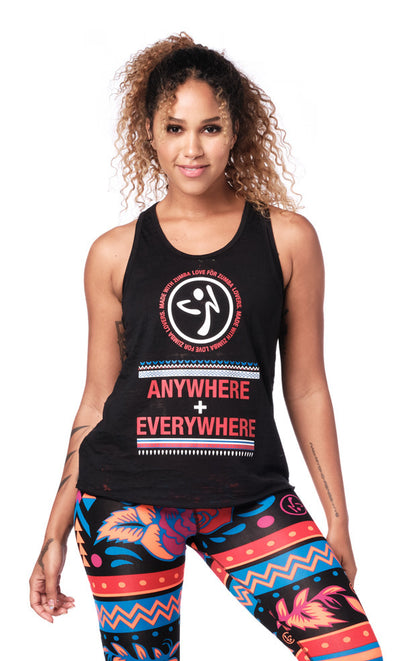 Zumba Everywhere Tank Top - Bold Black Z1T01922