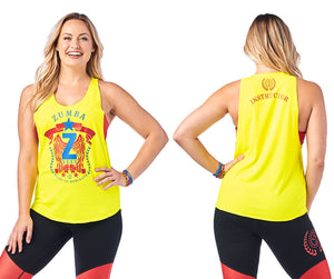 Zumba Ready To Dominate Instructor Tank - Caution Z1T01953