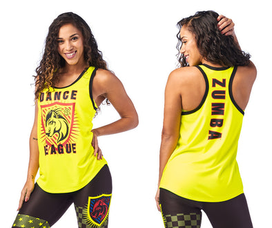 Zumba Dance League Jersey Tank - Caution Z1T01954