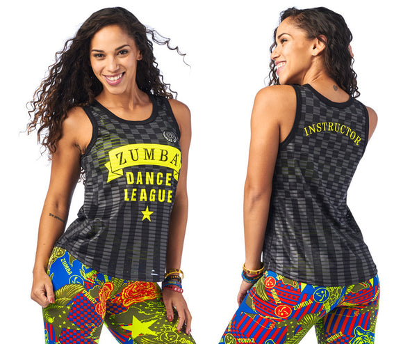 Zumba Dance League Instructor Jersey - Bold Black Z1T01957