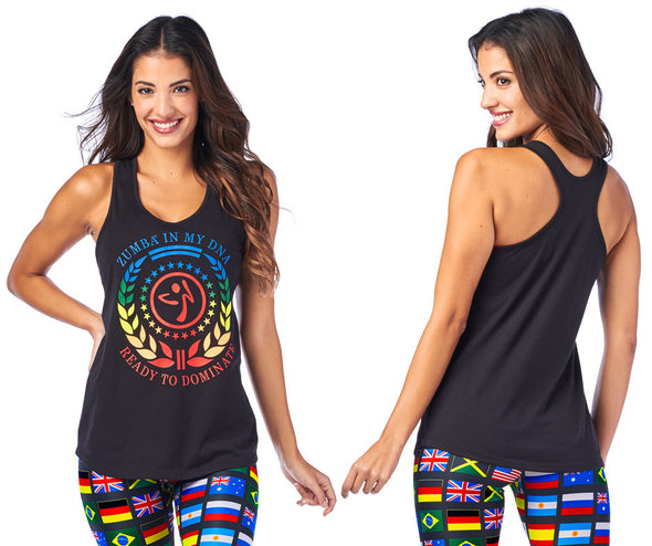 Zumba Is My DNA Tank - Bold Black Z1T01962