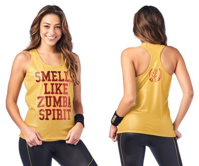 Zumba Spirit Bubble Tank - Gold Z1T01963