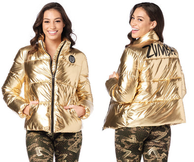 Zumba Metallic Puffer Jacket - Gold Z1T01972
