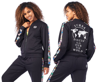 Zumba Dancin' Zip-Up Jacket - Bold Black Z1T01974