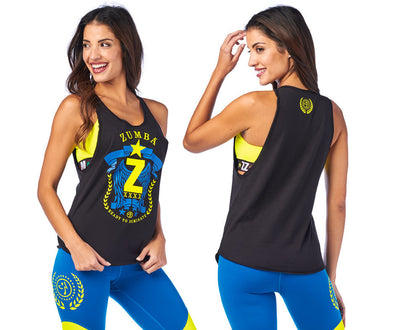 Zumba Ready To Dominate Tank - Bold Black Z1T01976