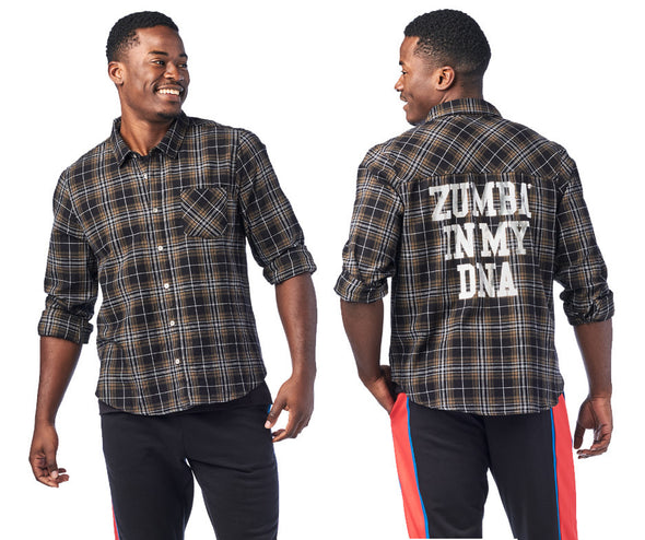Zumba In My DNA Button Down Shirt - Seaweed Z1T01980