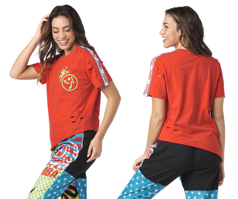 Zumba Let's Go Tee - Really Red-y Z1T02019