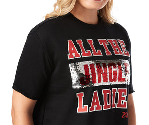 Zumba All The Jingle Ladies Top - Bold Black Z1T02032