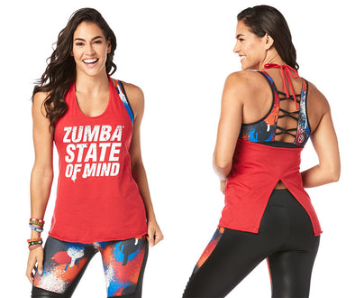 Zumba State Of Mind Halter Top - Viva La Red Z1T02051 XL