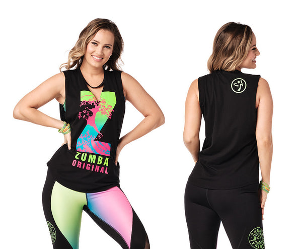 Zumba Original V Cut Out Tank Top - 2 Colors Z1T02061