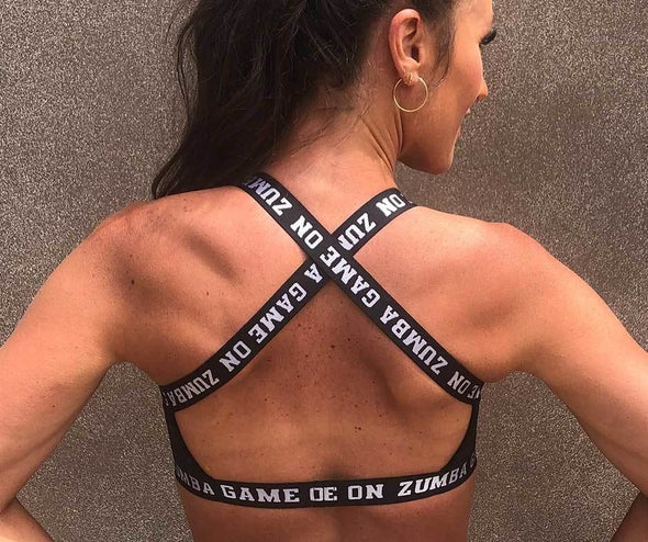 Zumba Game On Open Back Bra - 2 Colors Z1T02081