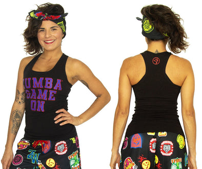 Zumba Game On Racerback Top - 2 Colors Z1T02084