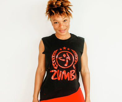 Zumba Asymmetrical Muscle Tank - 2 Colors Z1T02092