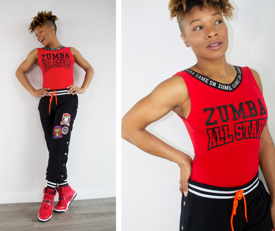 Zumba All Stars Bodysuit - Really Red-y Z1T02093