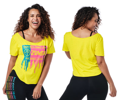 Zumba For Zumba Lovers Tulip Top - 2 Colors Z1T02132