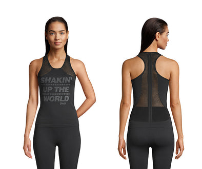 Zumba Shakin Up The World Tank - Bold Black Z1T02142