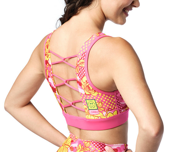 Zumba Spread Zumba Love Bra - Shocking Pink Z1T02179