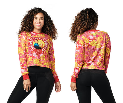 Zumba Spread Love Long Sleeve Top - Shocking Pink Z1T02188