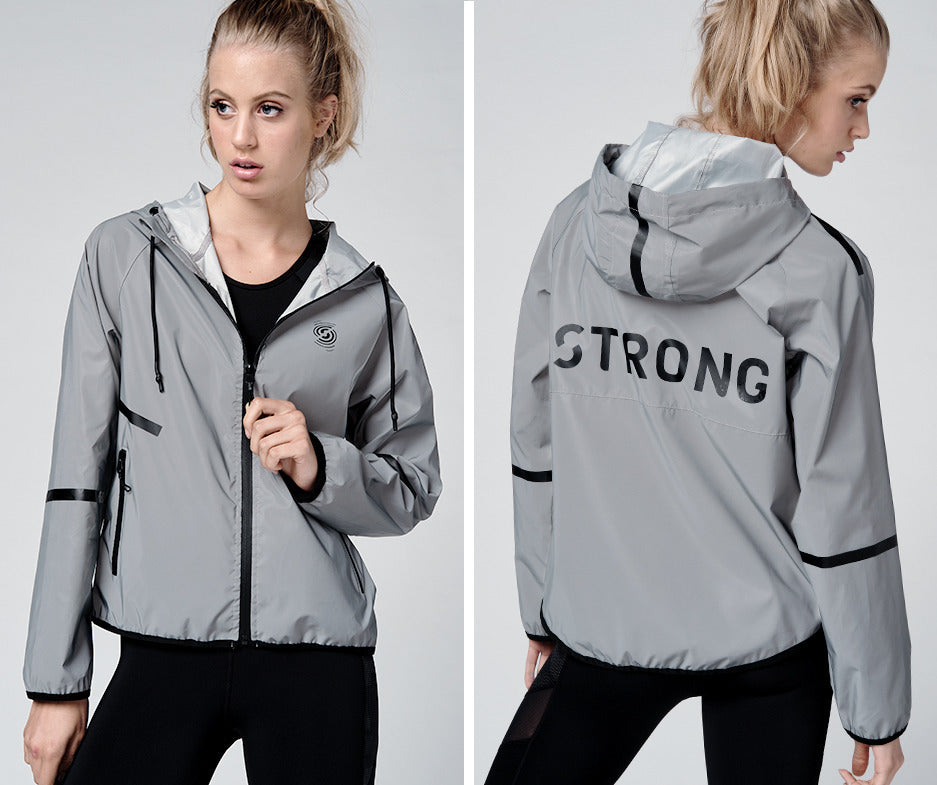 Strong by Zumba Reflective Zip-Up Jacket - Black Z1T02218