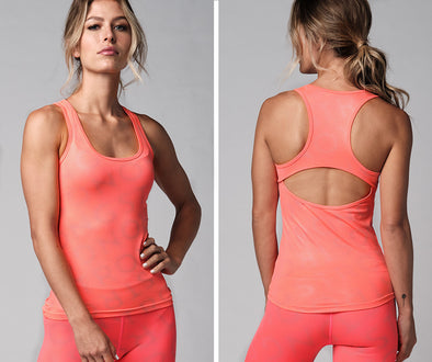 Strong Nation Reflective Laser Tank Top - Neon Orange Z1T02255