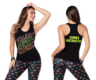 Zumba Vibes Instructor Racerback Top - Bold Black Z1T02264